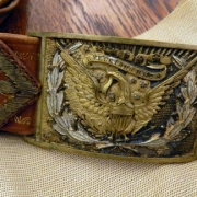 Wistar's brass uniform buckle