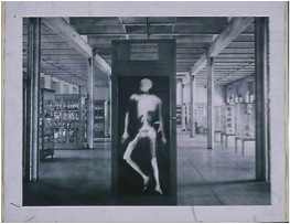 Museum and skeleton x-ray