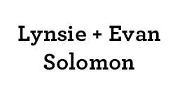 Lynsie and Evan Solomon