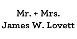 Mr. & Mrs. James W. Lovett