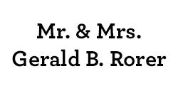 Mr. & Mrs. Gerald B. Rorer