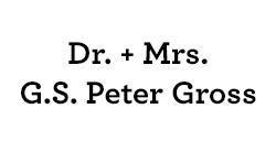 Dr. & Mrs. G.S. Peter Gross