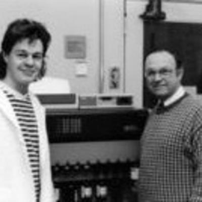 Picture of two men who developed the first wildlife rabies vaccine