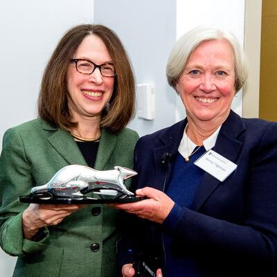 Helen Pudlin and Shirley Tilghman