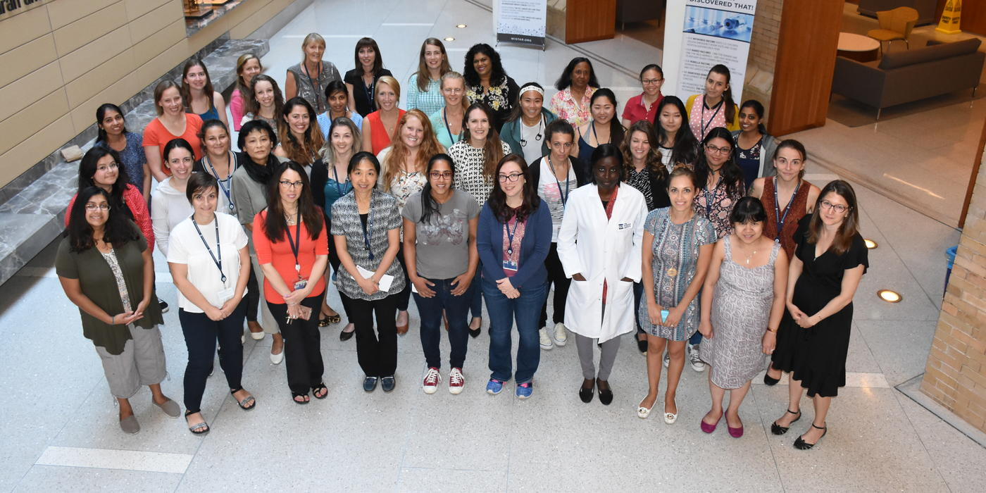 Female scientists at Wistar 2017
