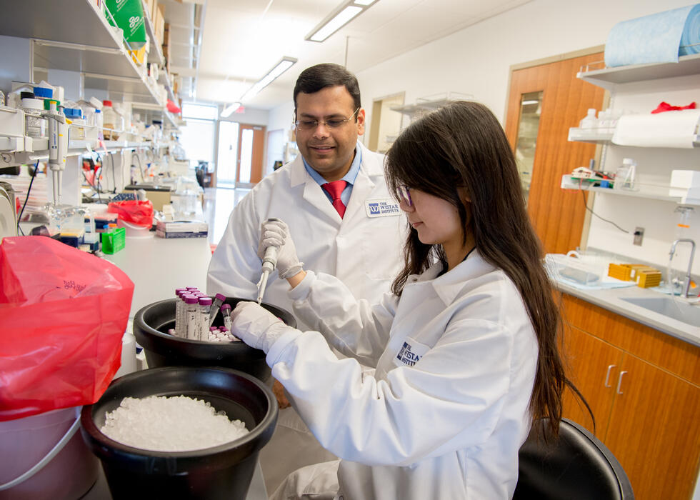 Farokh in the lab