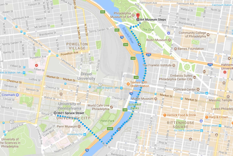 Research Run Map
